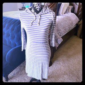 Striped Hooded Dress